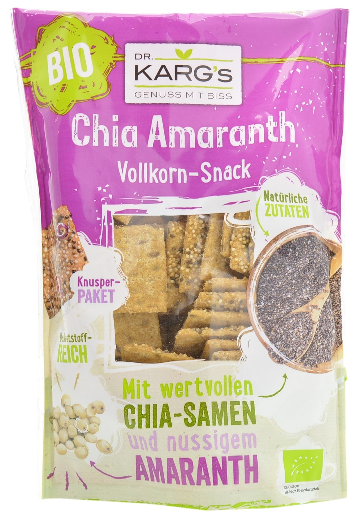 Chia and Amaranth Wholegrain Snacks