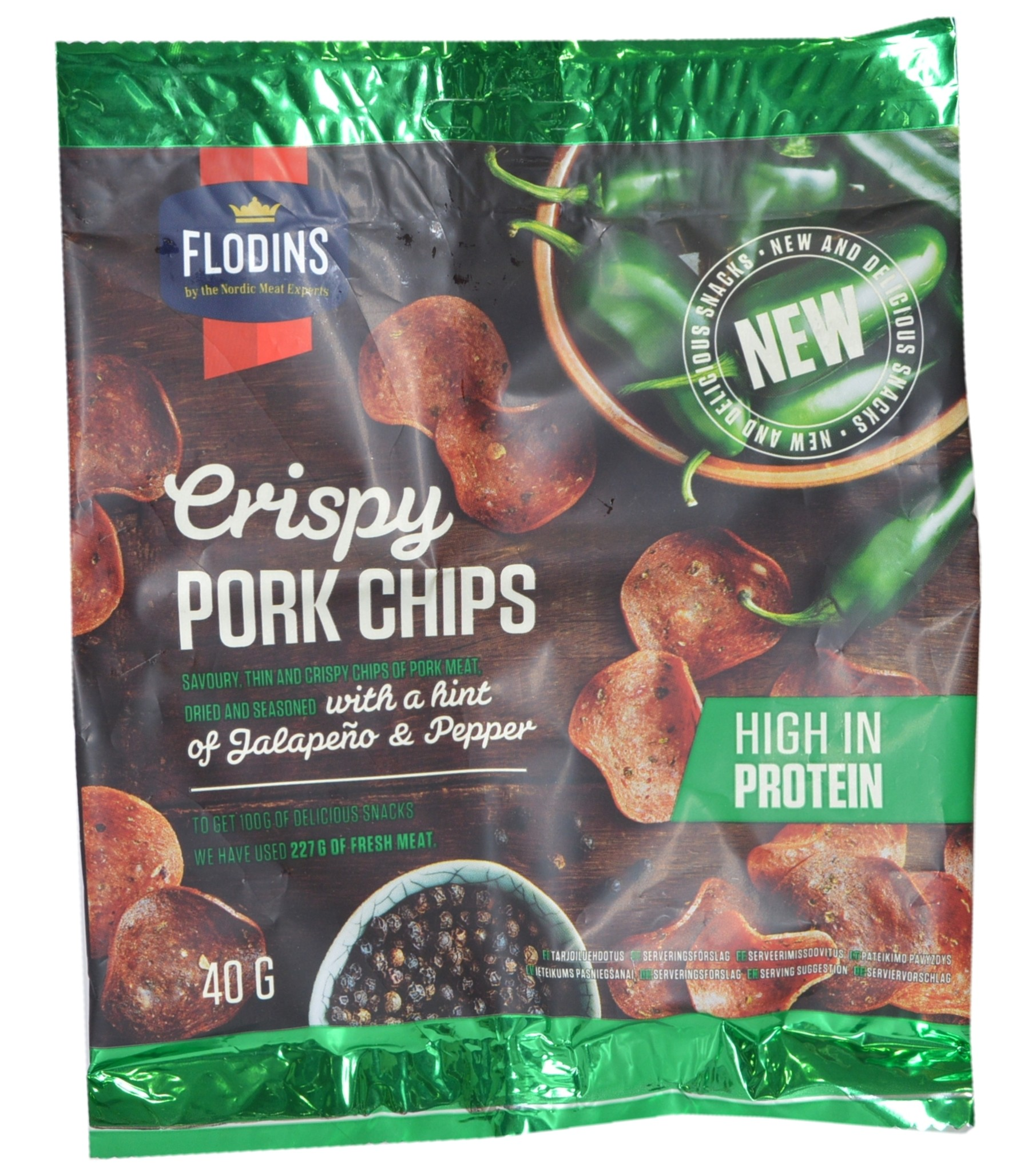 Crispy Pork Chips with a Hint of Jalapeno and Pepper