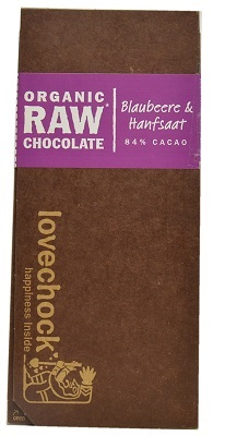 Blueberry & Hempseed Organic Raw Chocolate small
