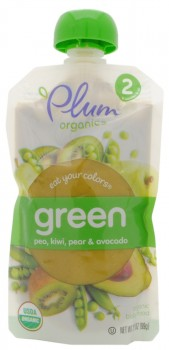 Plum Organics Eat Your Colors Green Baby Food - Babynahrung USA